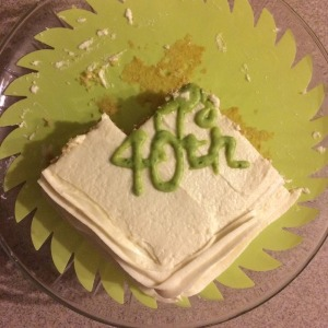 June - Yoli's 40th Birthday Cake